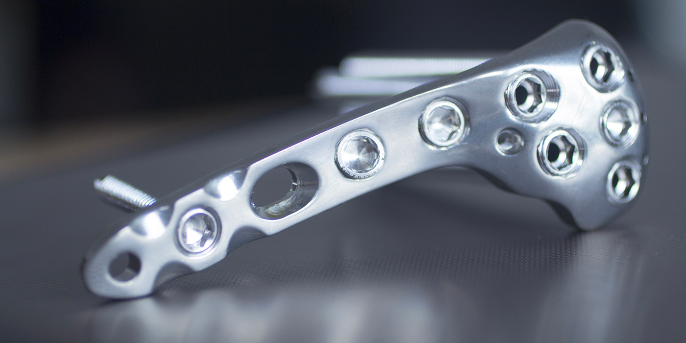 Close-up photo of an orthopedic implant