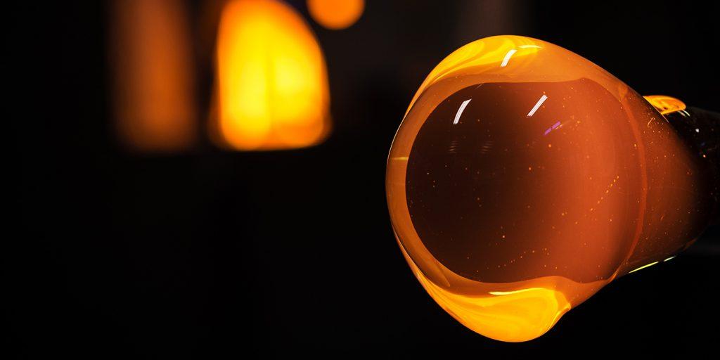 Glowing glass